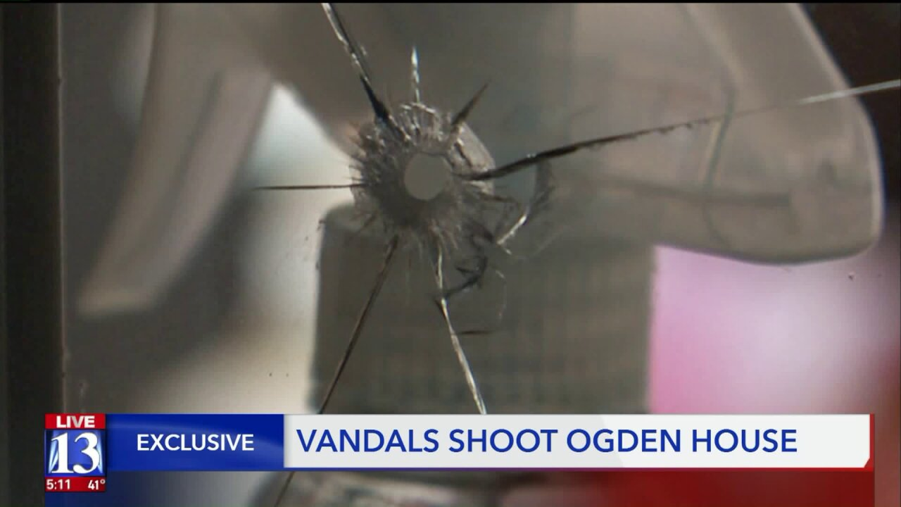 Ogden woman says someone shot at Christmas display, breaking window inhome