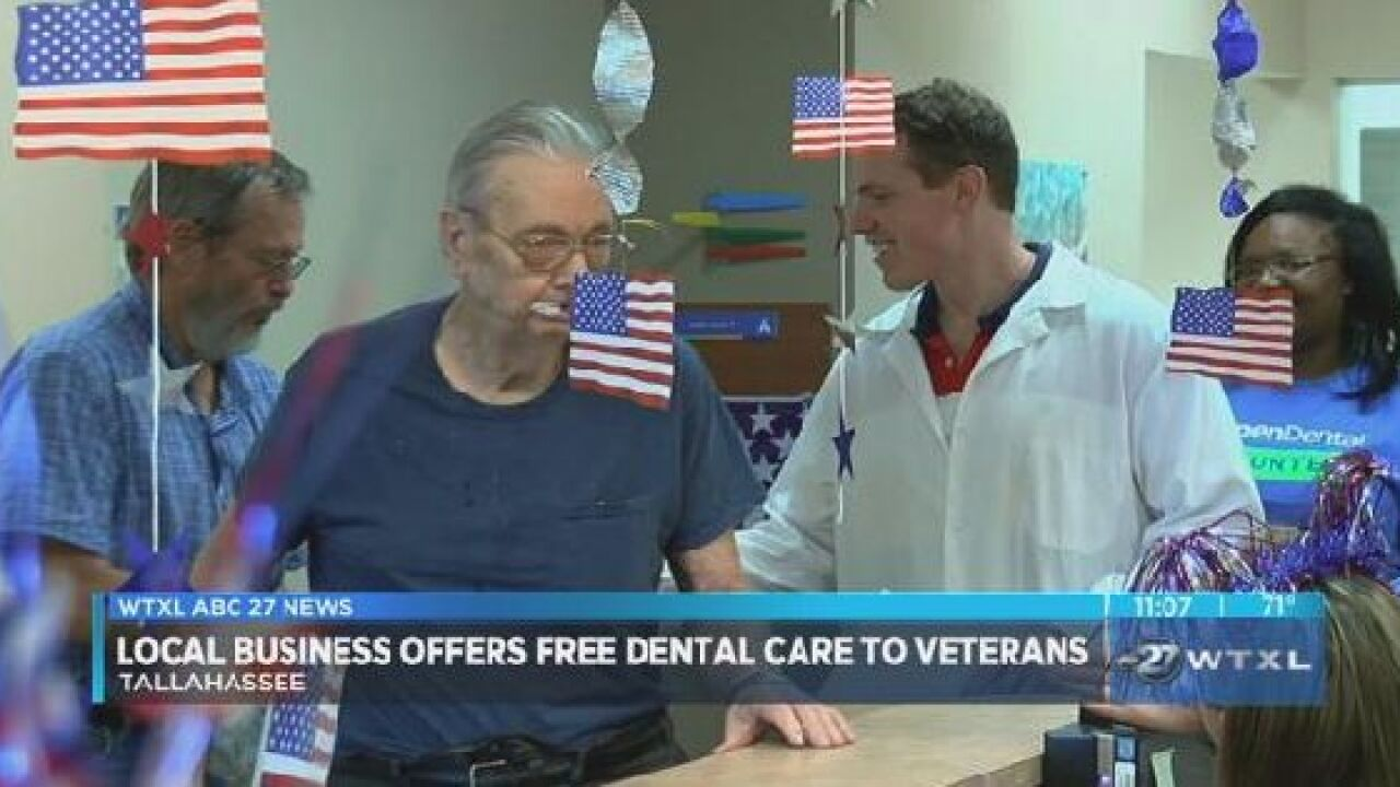Abc Dental Care local business offers free dental care to veterans