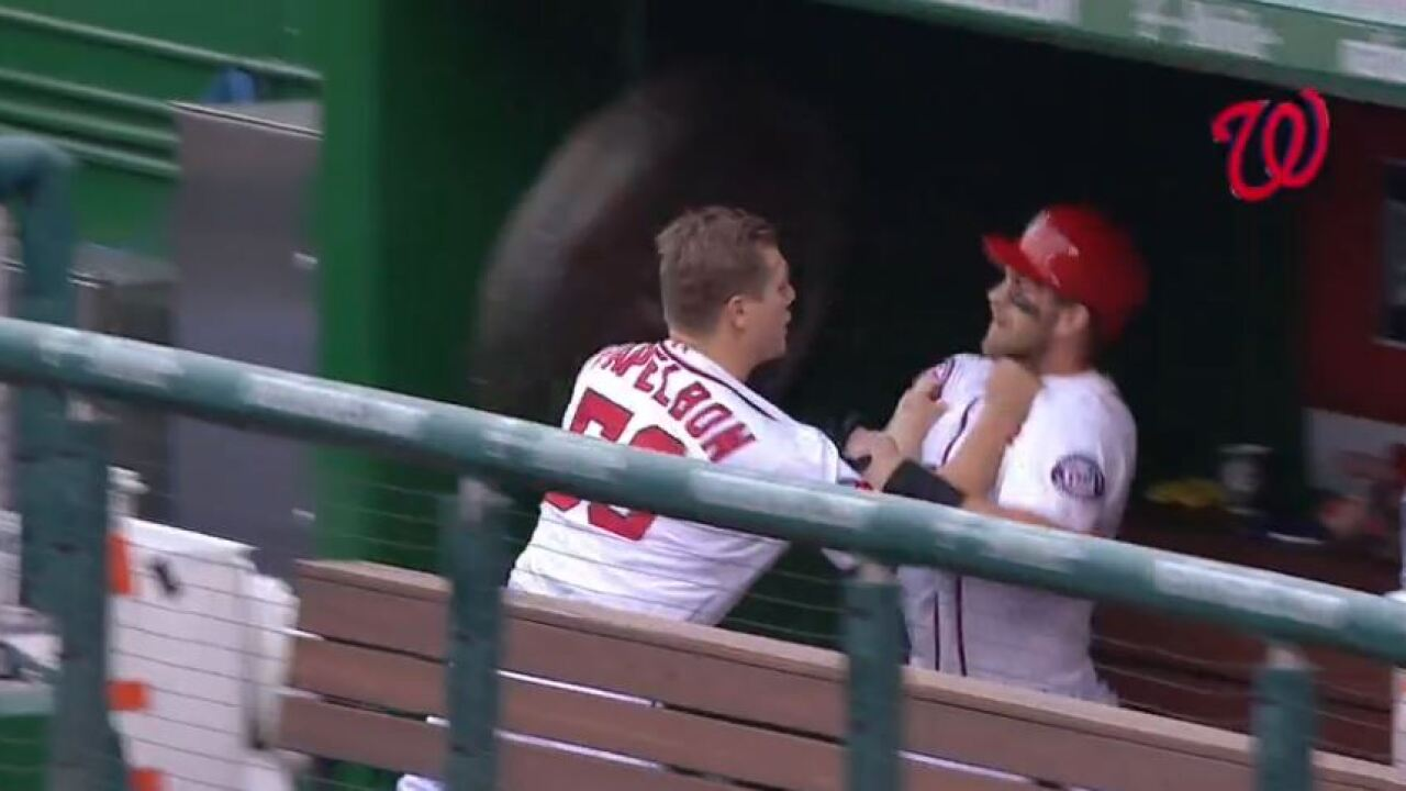 Washington Nationals suspended Jonathan Papelbon for fight with Bryce Harper