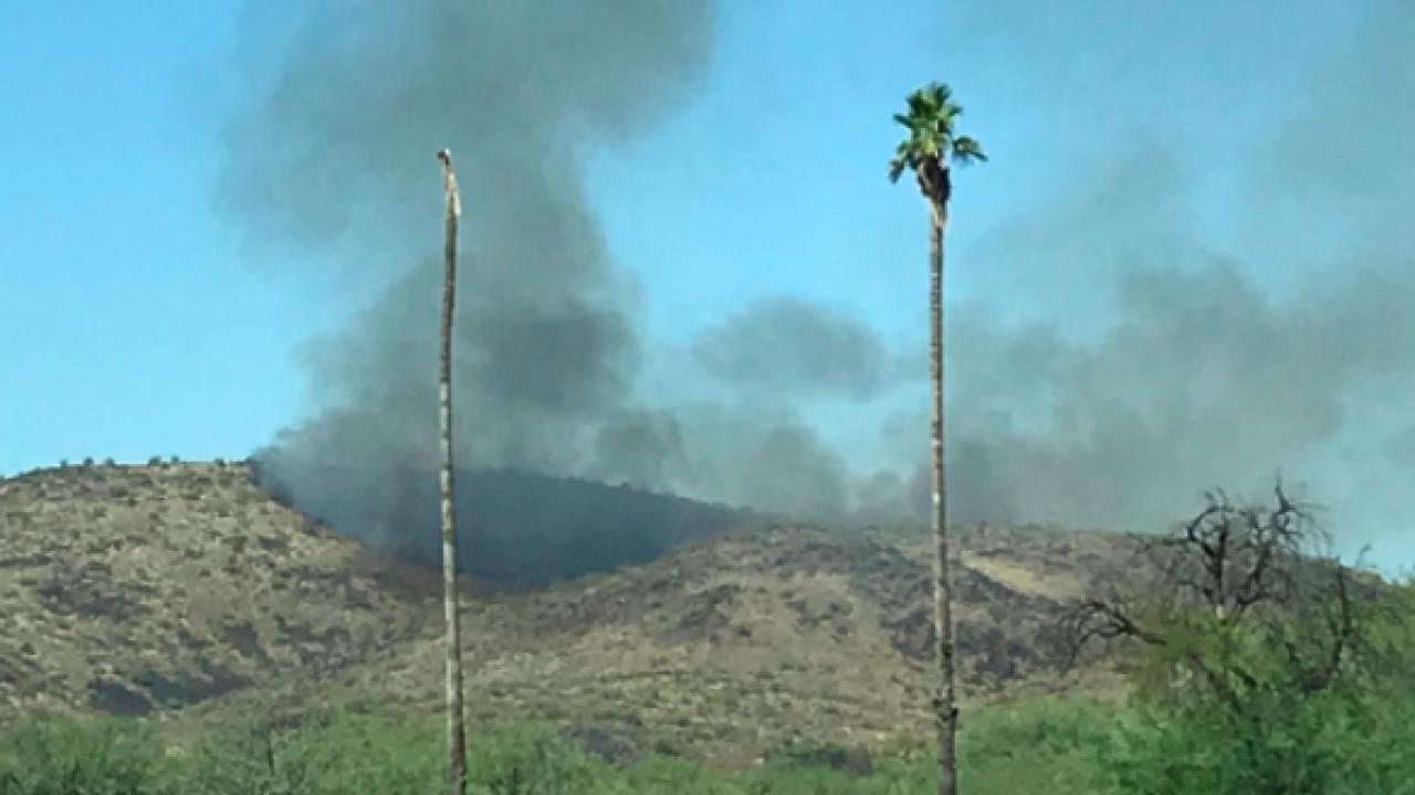Thunderbird Mountain brush fire