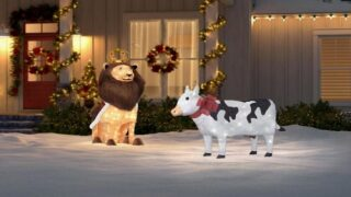 You Can Buy A Light-up Christmas Cow Decoration For Your Yard This Holiday Season