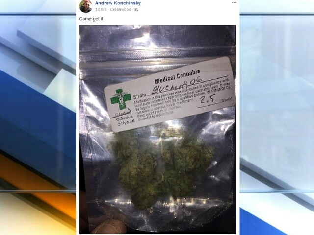 "7 charged following Facebook post with picture of marijuana and caption ""Come get it"""