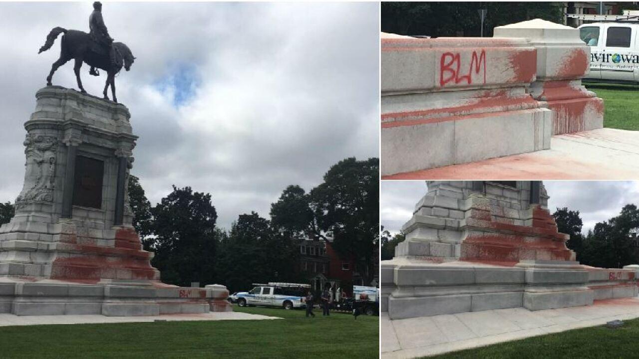 Vandals hit Robert E. Lee monument inRichmond