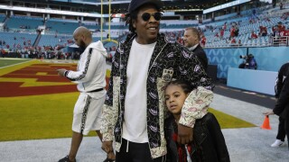 Jay-Z says family wasn't sitting out of protest during national anthem at Super Bowl