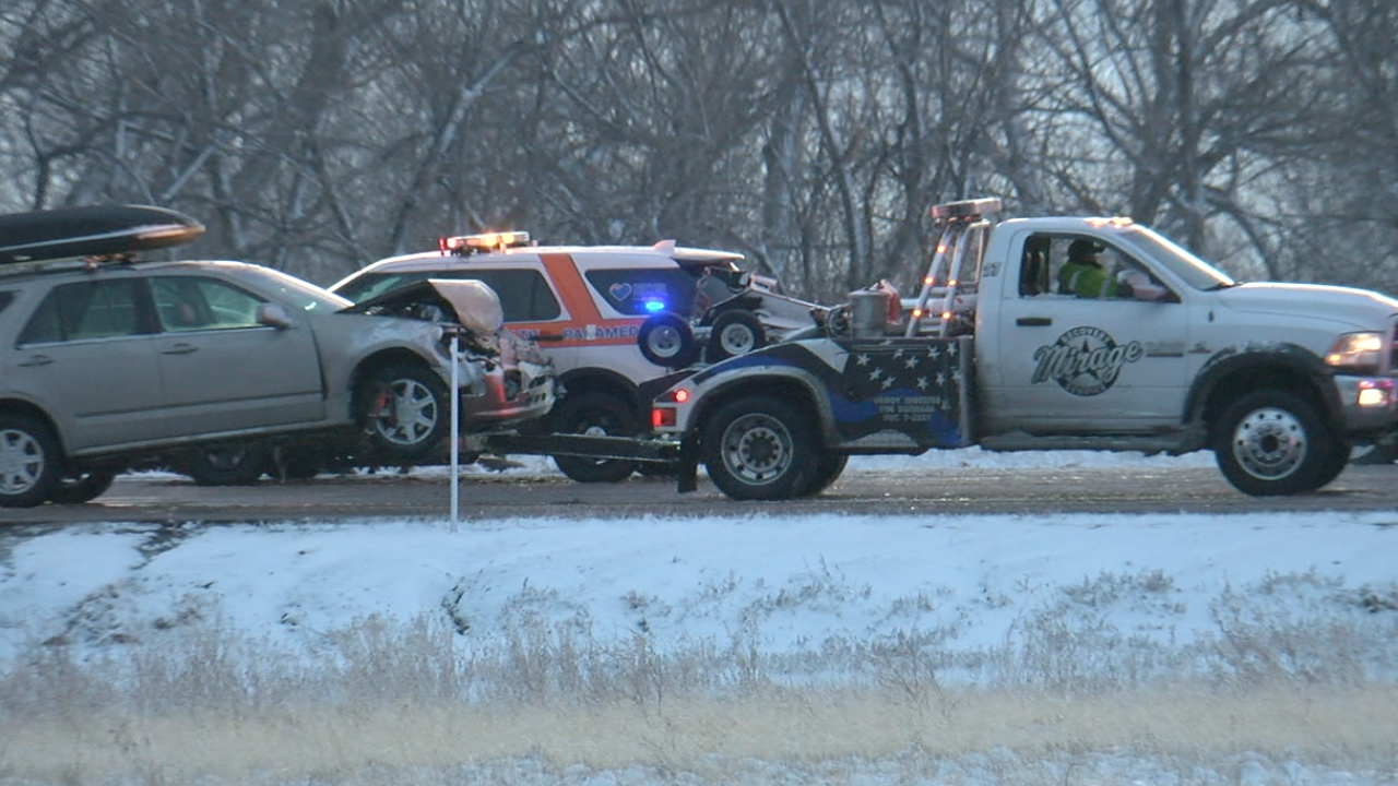 A 49-car pileup in Denver left 17 people injured, closed road for hours