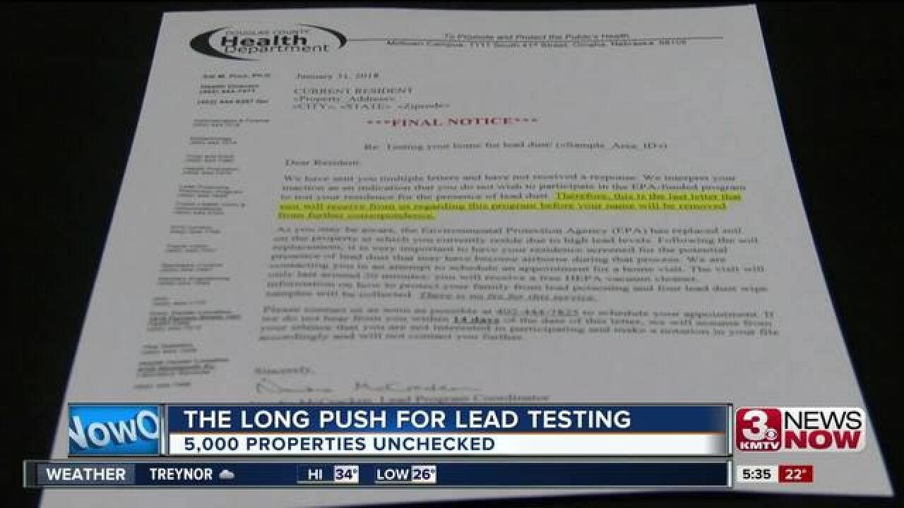 Douglas County pushes for more lead testing