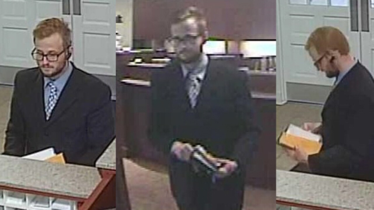 Man Robs U.S. Bank In Suit And Tie