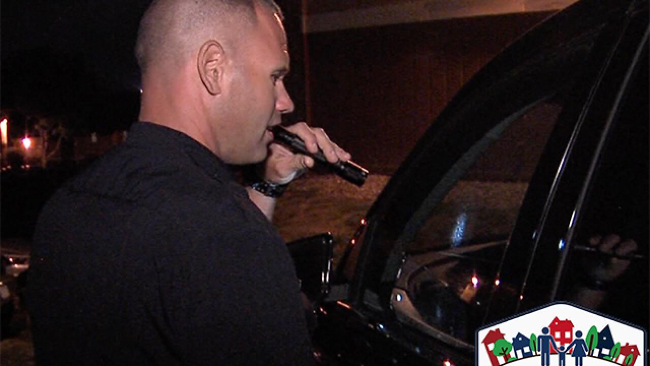 OP police want drivers to lock car doors