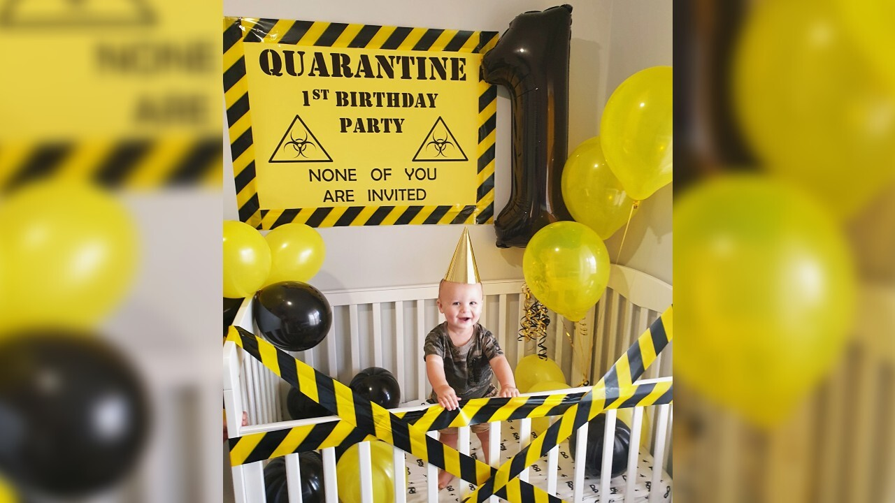 Mom celebrates baby's 1st birthday with quarantine party: 'None of you are invited'