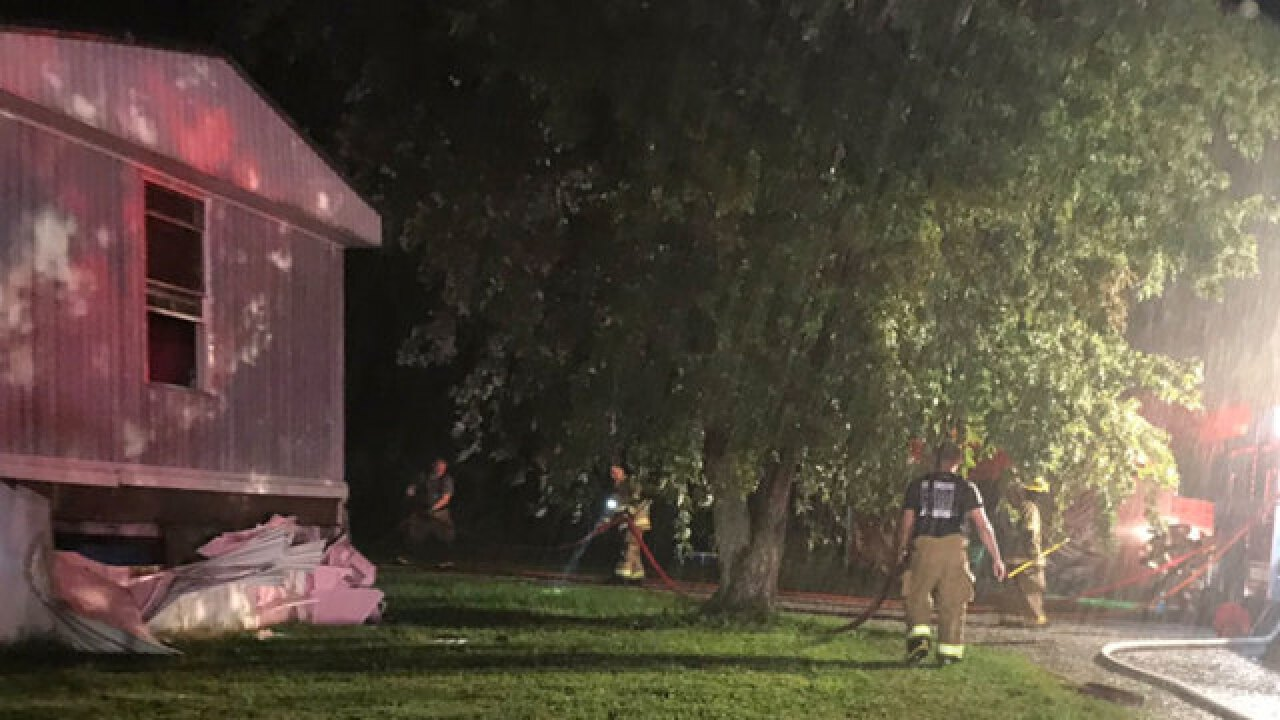 Mobile Home Catches Fire In Greenbrier