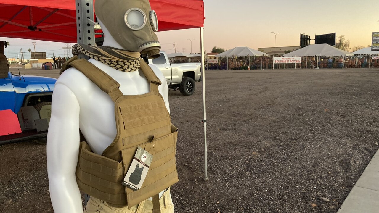 Mesa man selling body armor by the side of the road