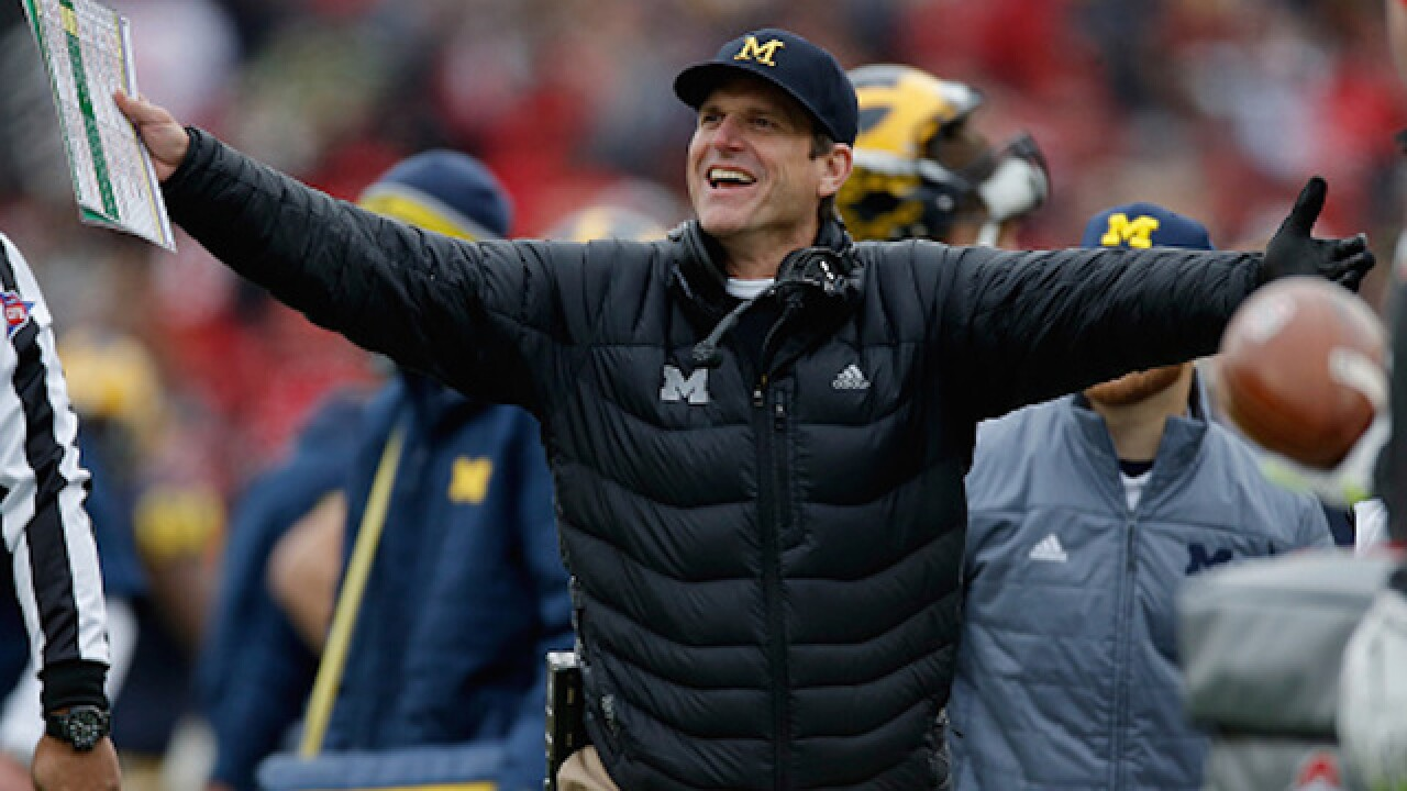 ViDEO: Jim Harbaugh sings the National Anthem