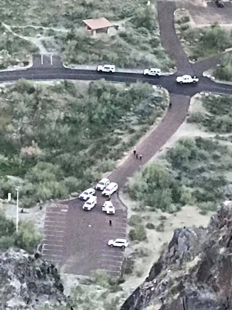 KNXV Shots fired at Piestewa Peak