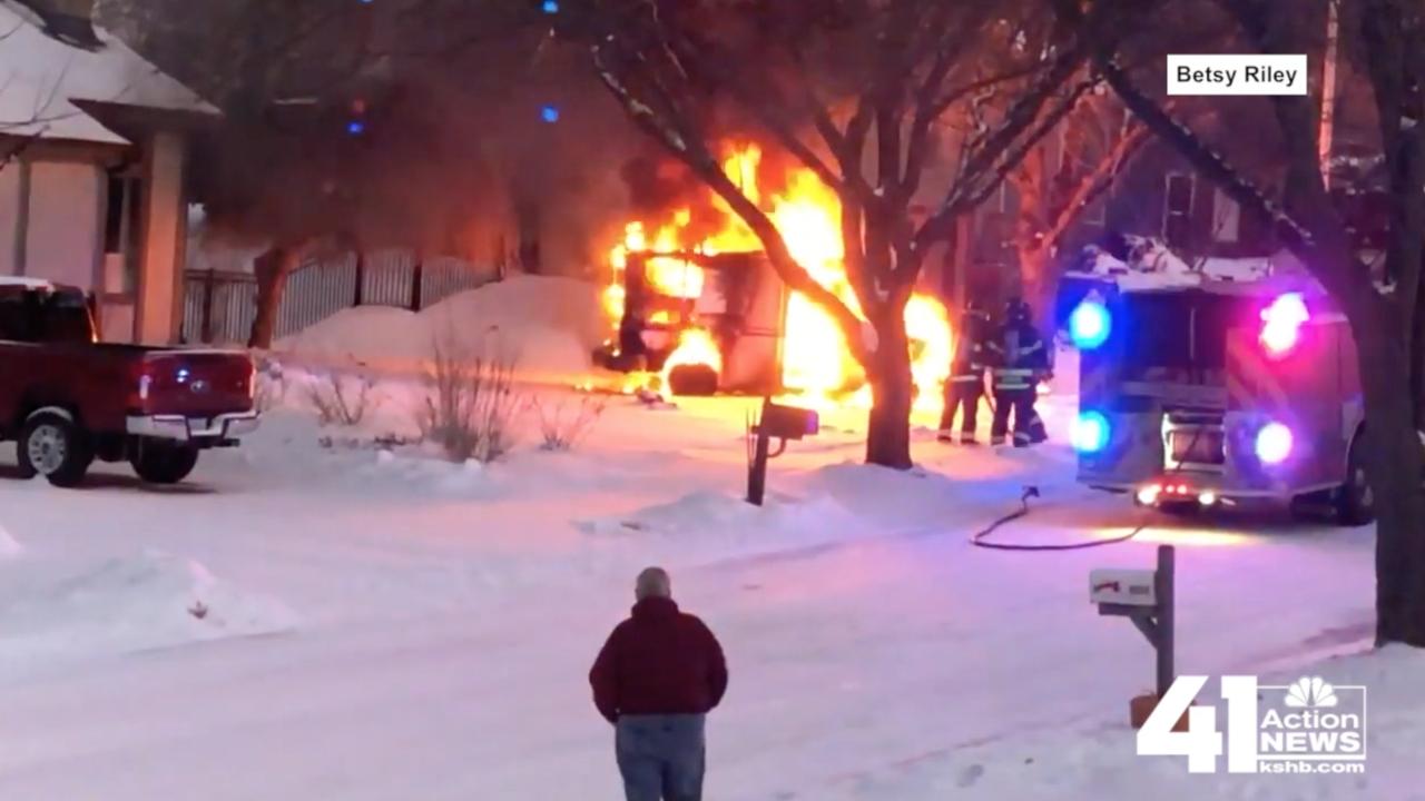 USPS truck fire