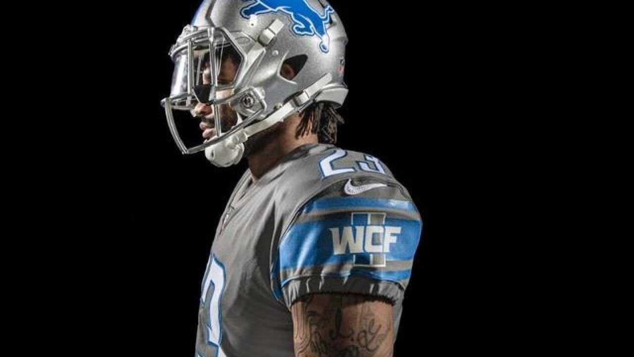 See the all-new Detroit Lions uniforms unveiled ahead of 2017-18 NFL ... d07bc2474