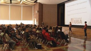 Draft Team USA visits Fort Carson Middle School