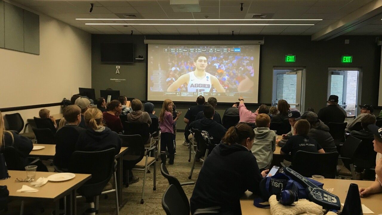 Utah State impresses fans, alumni during MarchMadness