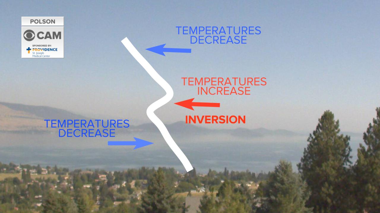 Inversions keeping smoke near surface in Western Montana