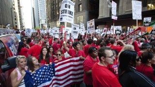 Large teacher's union authorizes members to strike if schools open without safety measure