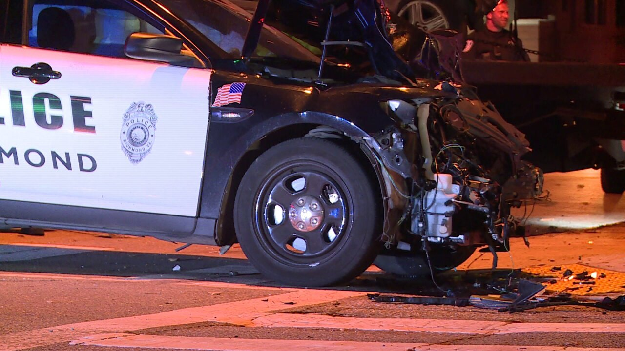 Alcohol likely involved in crash that injured Richmond Police officer