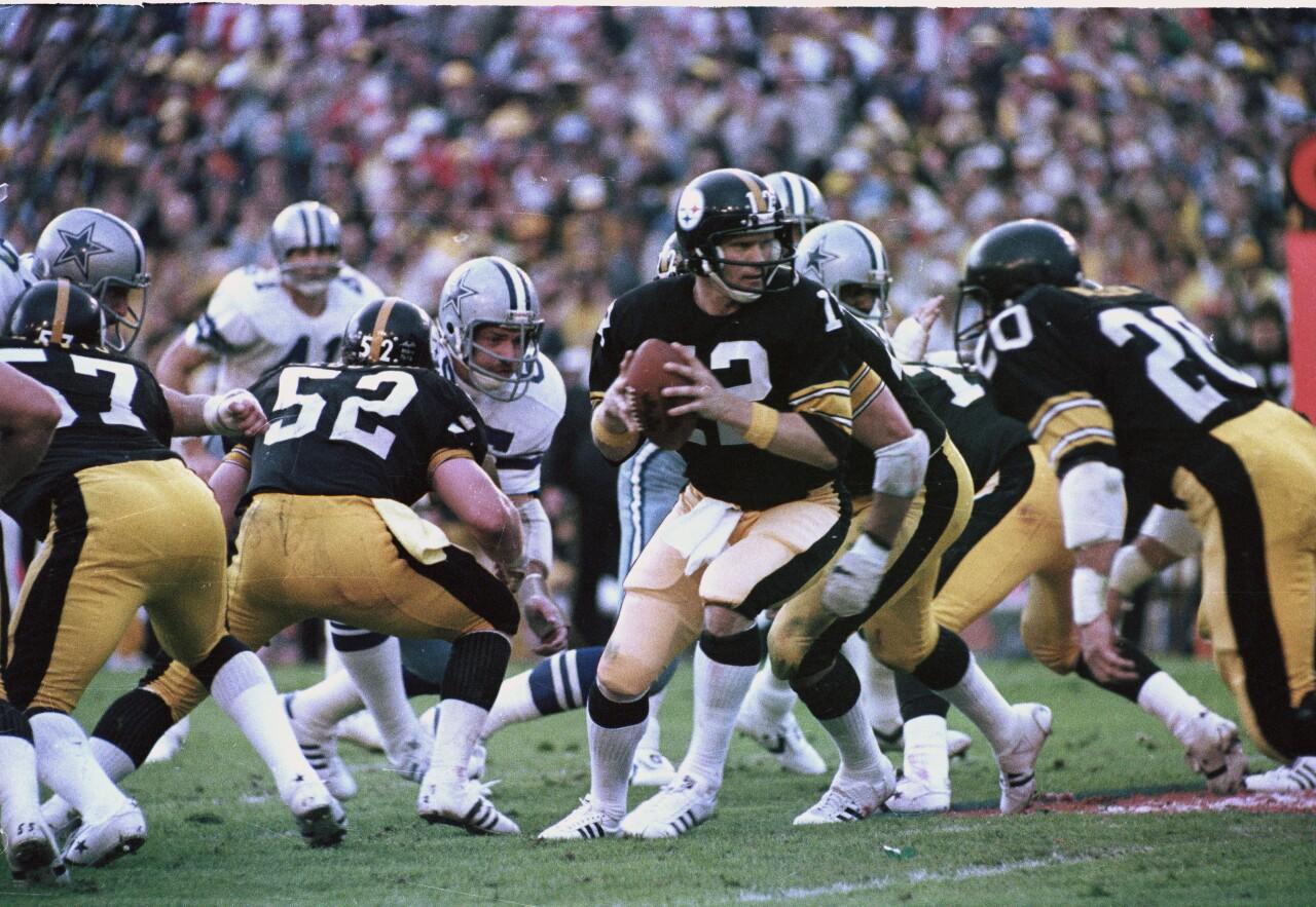 Pittsburgh Steelers QB Terry Bradshaw in Super Bowl III