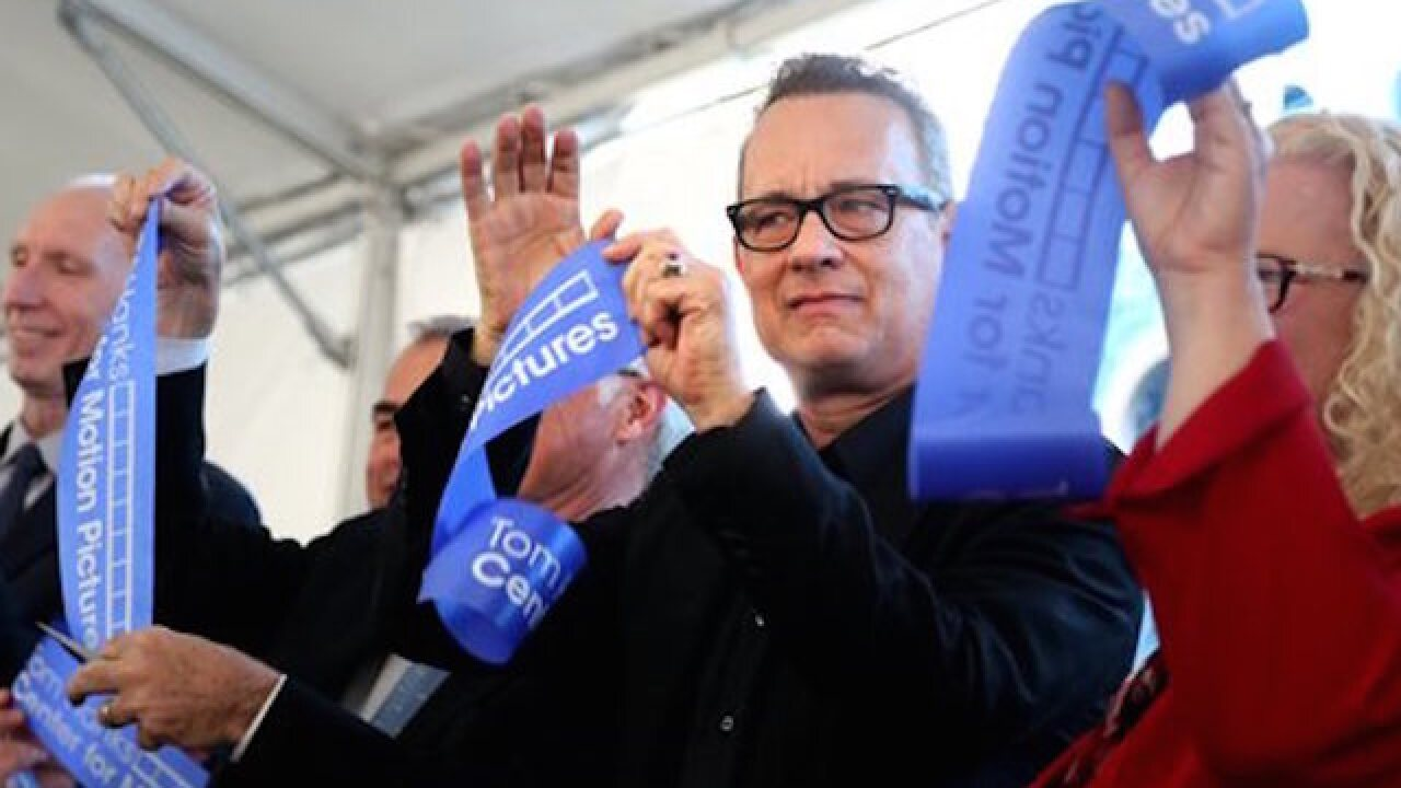 Tom Hanks dedicates motion pictures center