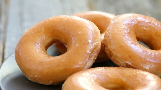 Get a free Krispy Kreme doughnut with vaccination card