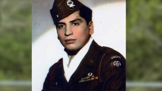 George Silvas, at age 20 when joining the U.S. Army before being deployed during WWII