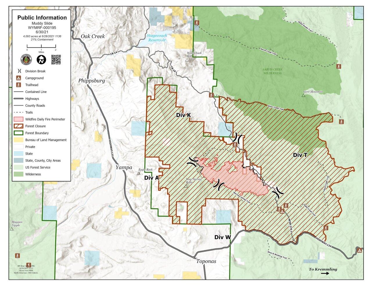 Muddy Slide Fire map_June 30 2021
