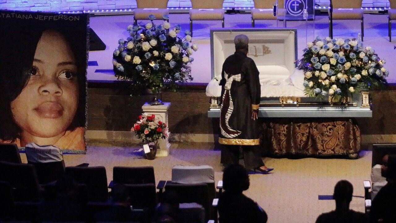 At Atatiana Jefferson's funeral, mourners say they are tired, angry and want justice