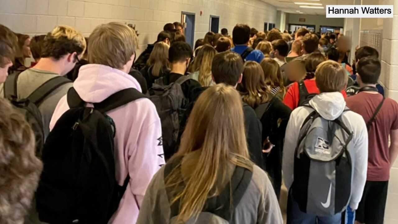 Student suspended after posting photo of crowded school hallway on social media