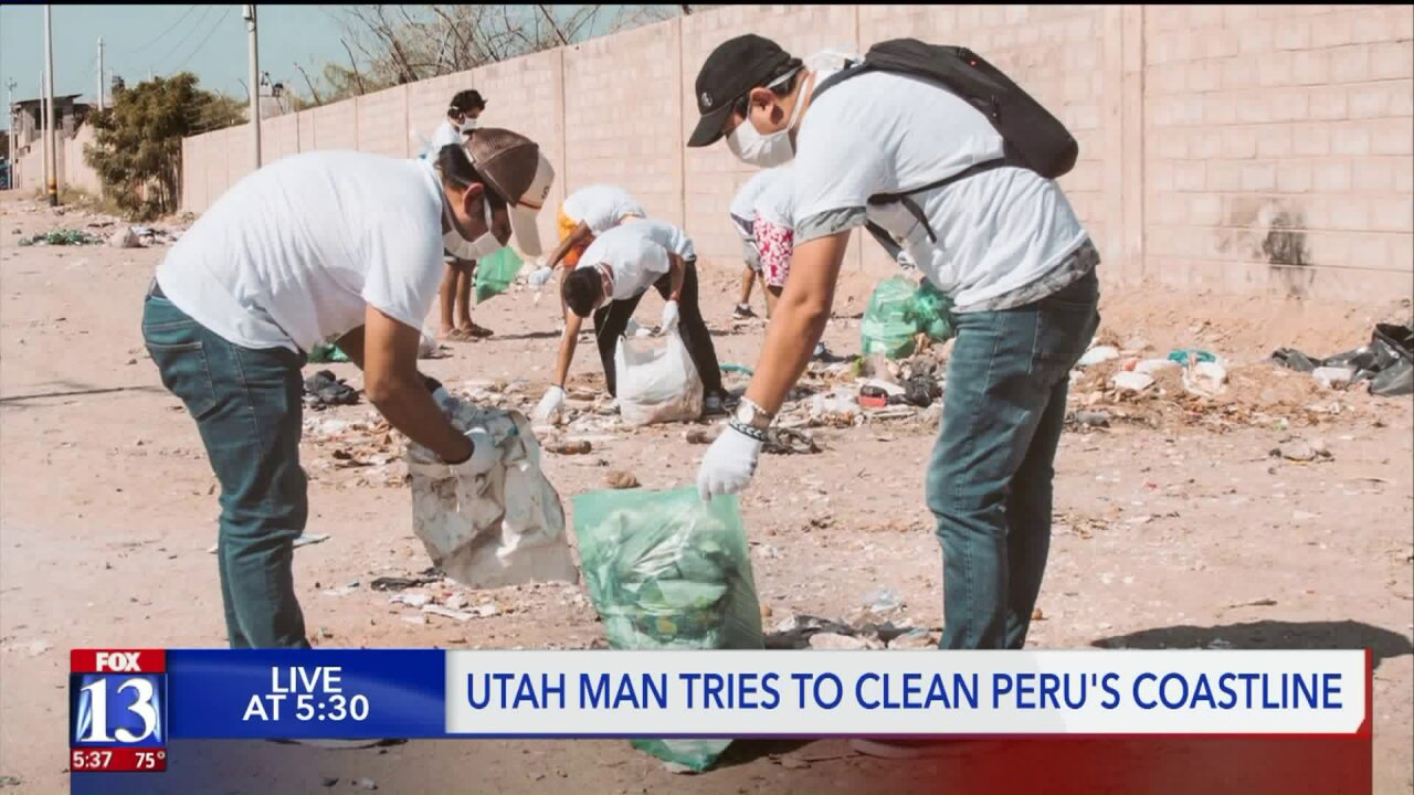 Utah man runs Peruvian coast, cleaning up and spreading environmental awareness along the way
