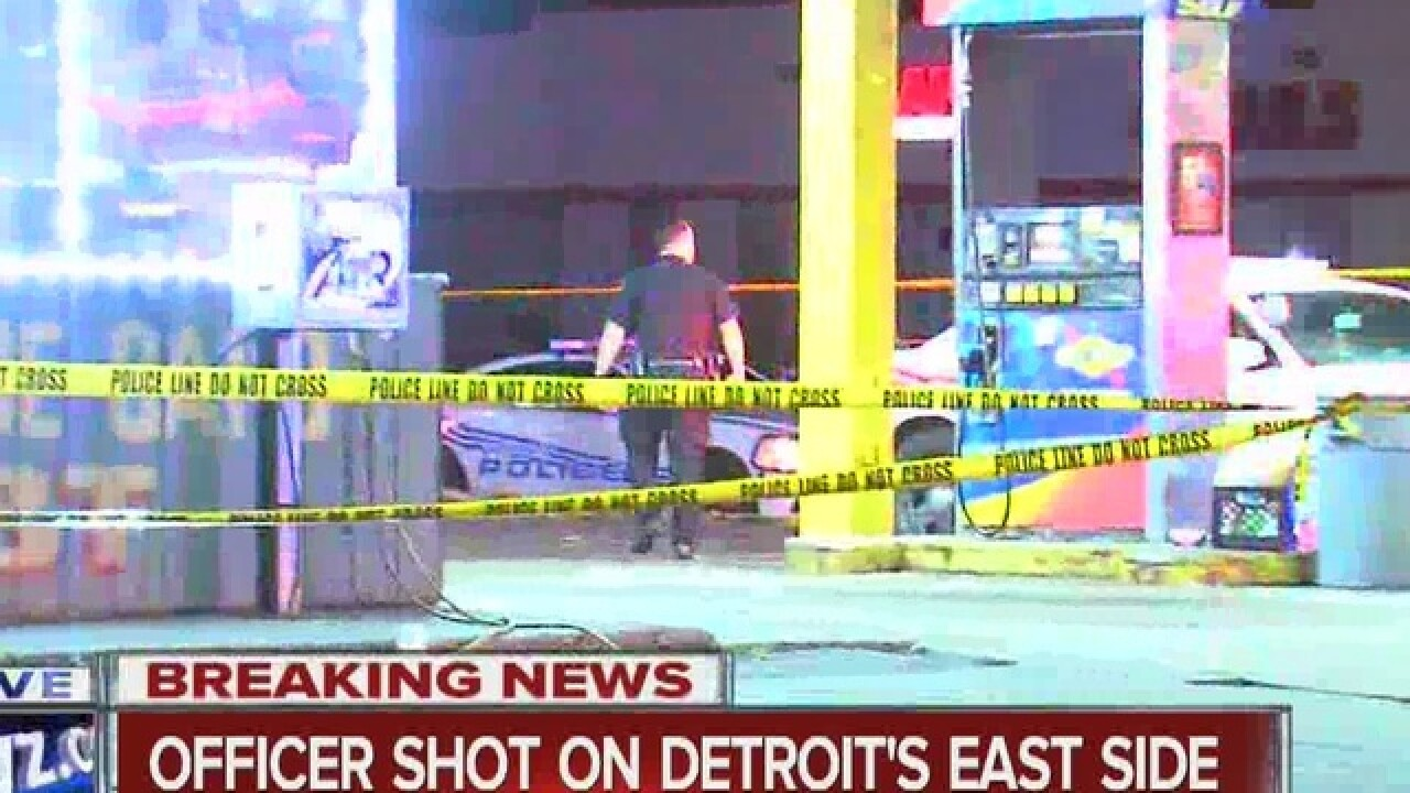 Detroit police officer injured on east side