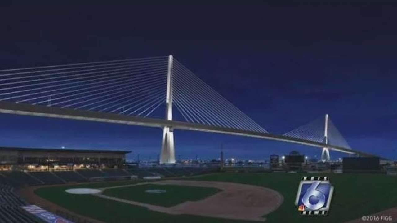 Harbor Bridge design suspended