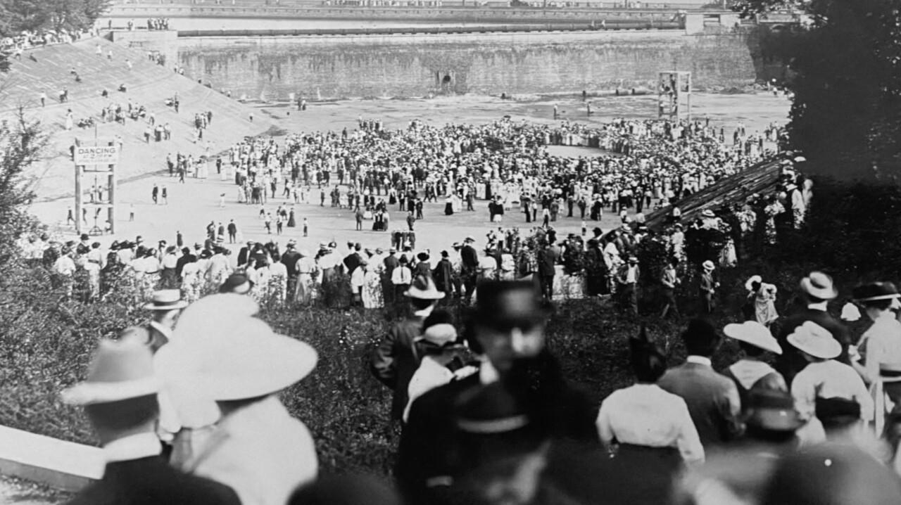 People gathering in Eden Park