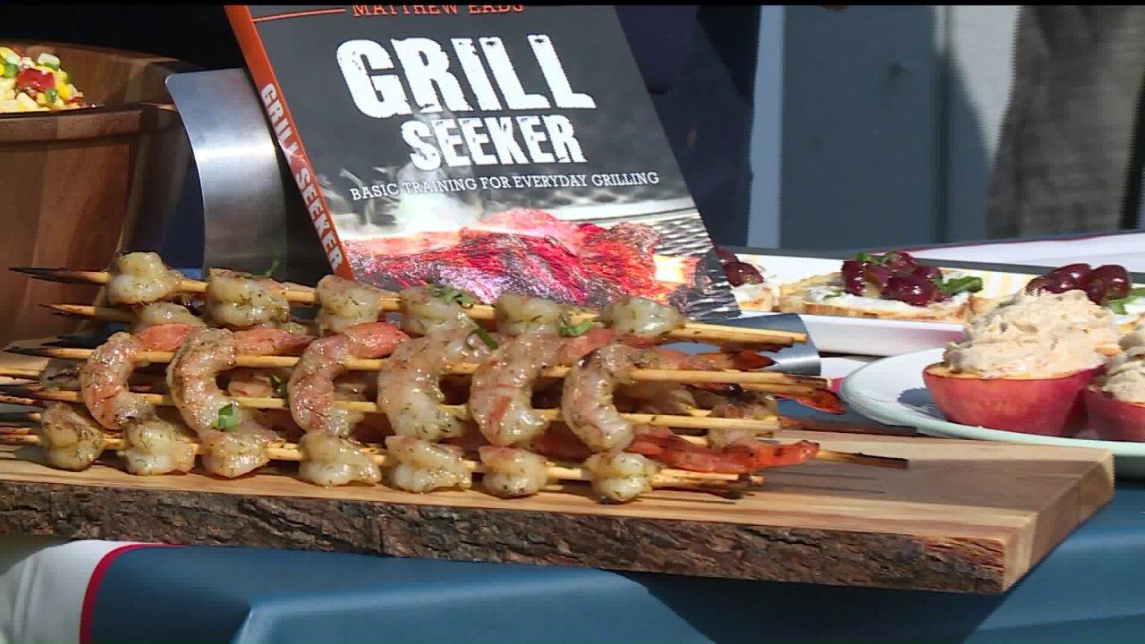 The Grill Seeker Makes Delicious Honey, Garlic & Ginger Shrimp
