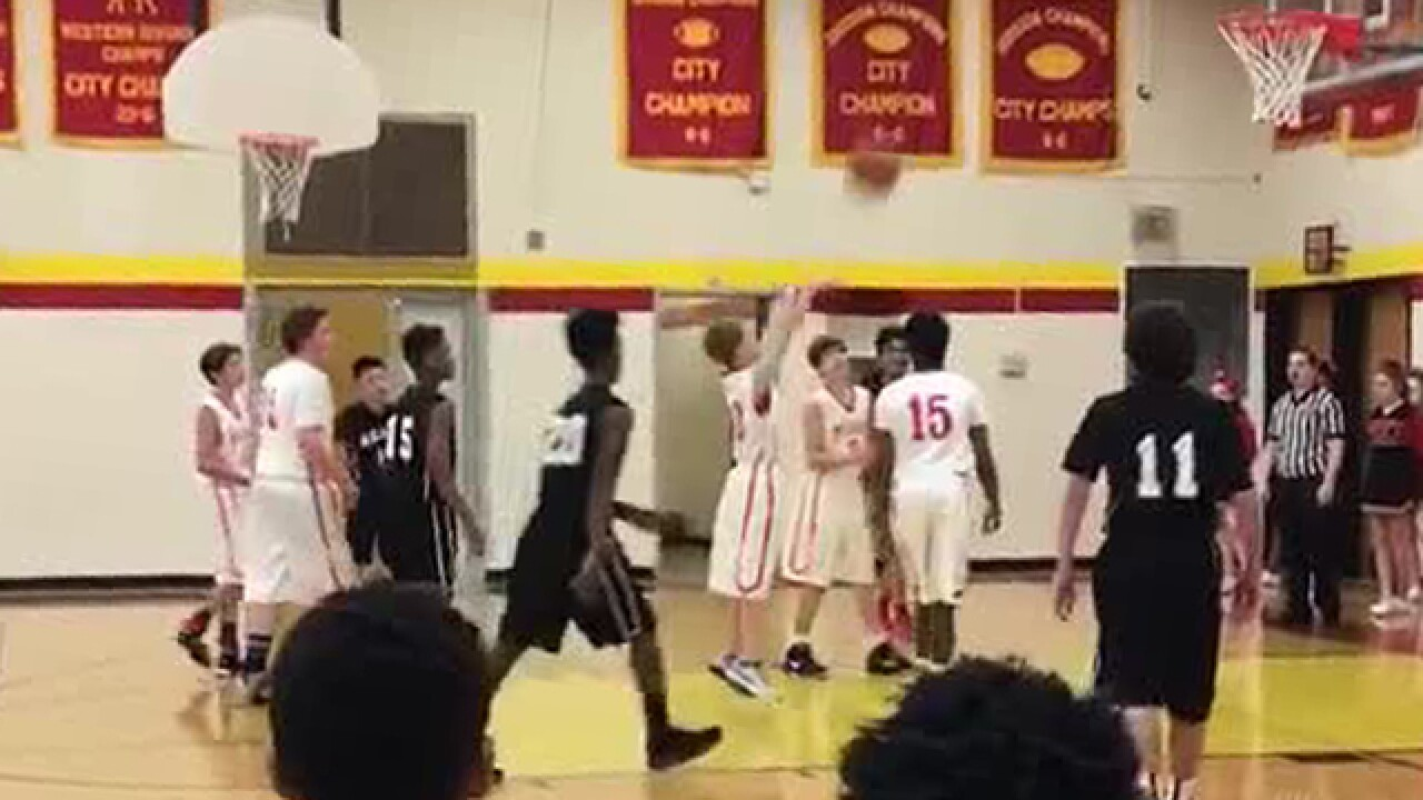 Special Needs Student Scores In Basketball Game