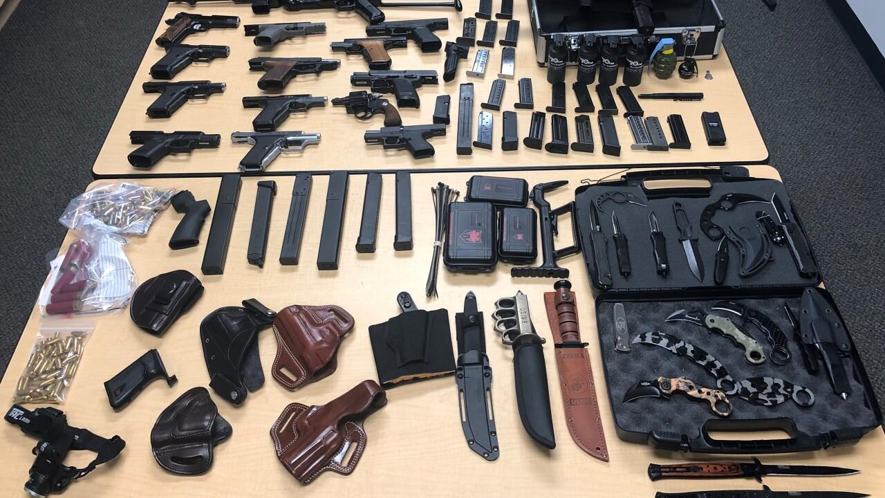 Goldstein guns found in home