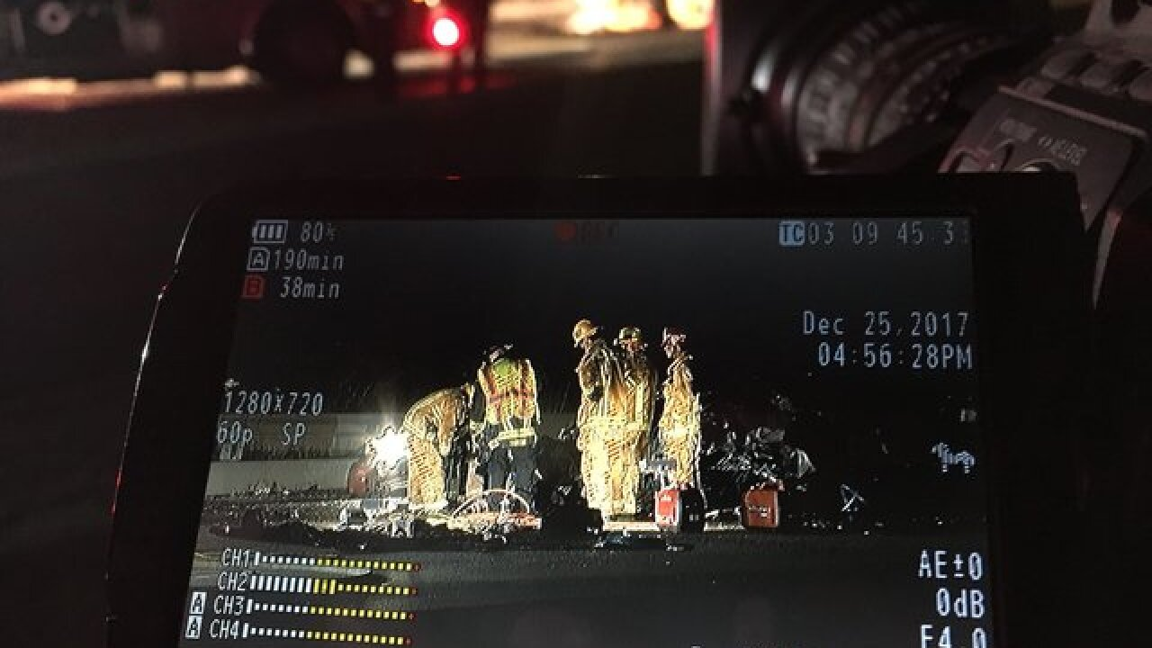 Three killed in a fiery Christmas Day crash on I-5 in Oceanside
