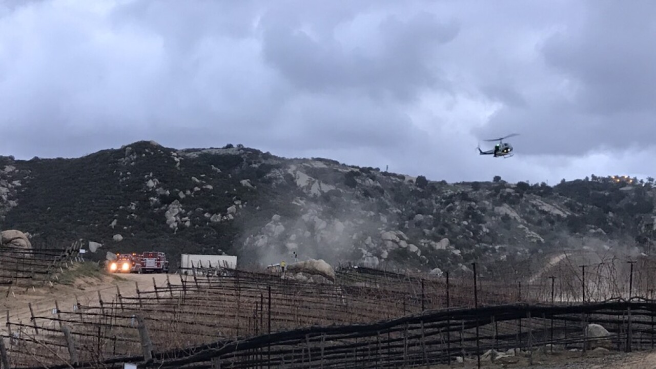 Escondido cliff rescue