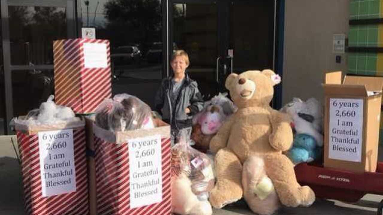 Teddy bears donated to hospitals for the holiday