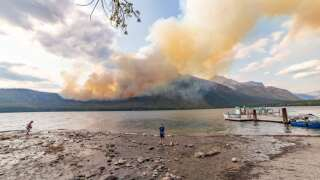 Growing wildfire triggers evacuations in part of Glacier National Park