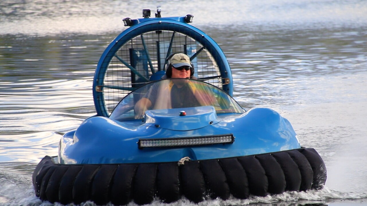Hovercraft collecting rare hobby in Montana