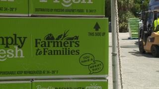 Farmers to Families boxes for food drive