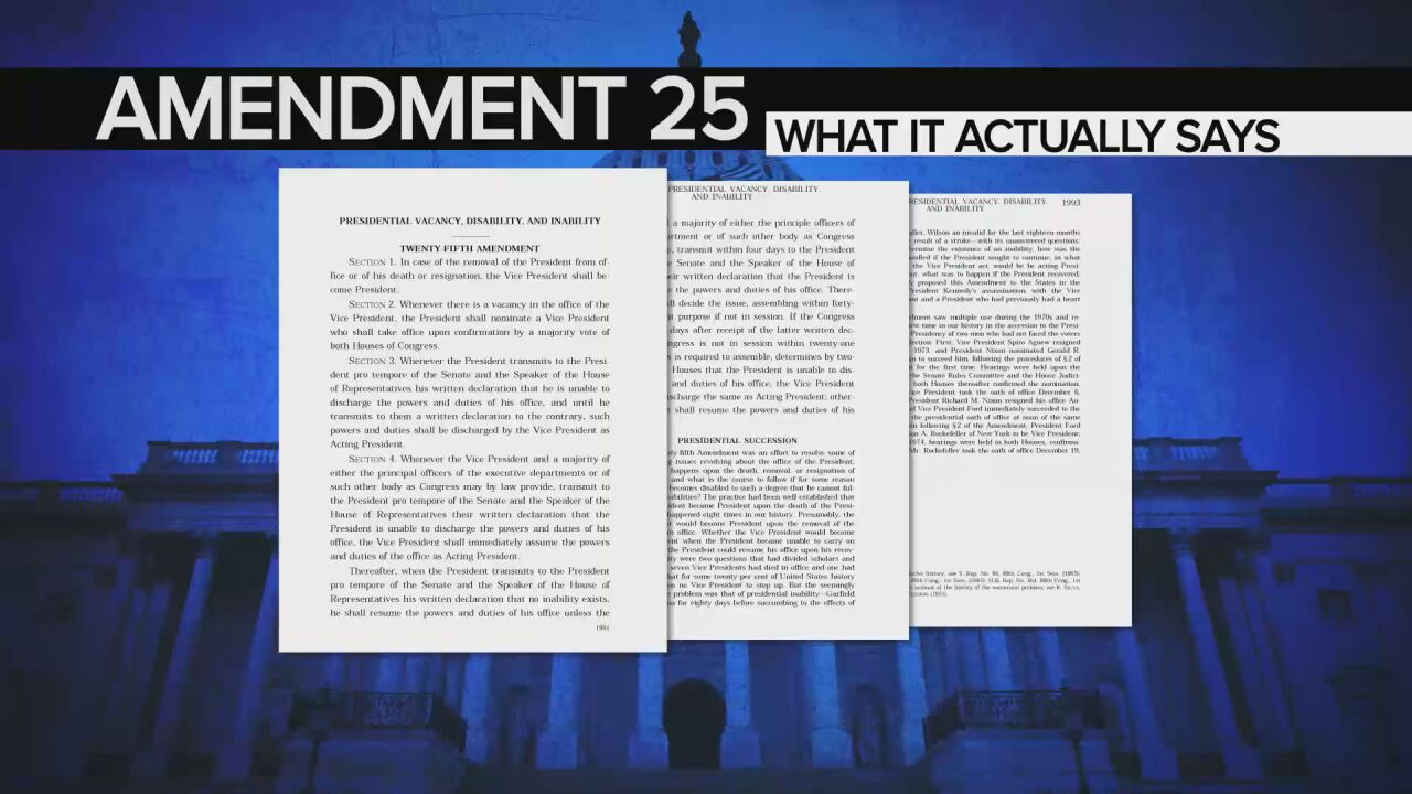 """Explaining the 25th Amendment: """"It's unlikely to happen this week"""""""