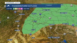 Thunderstorms will impact SW Montana Thursday