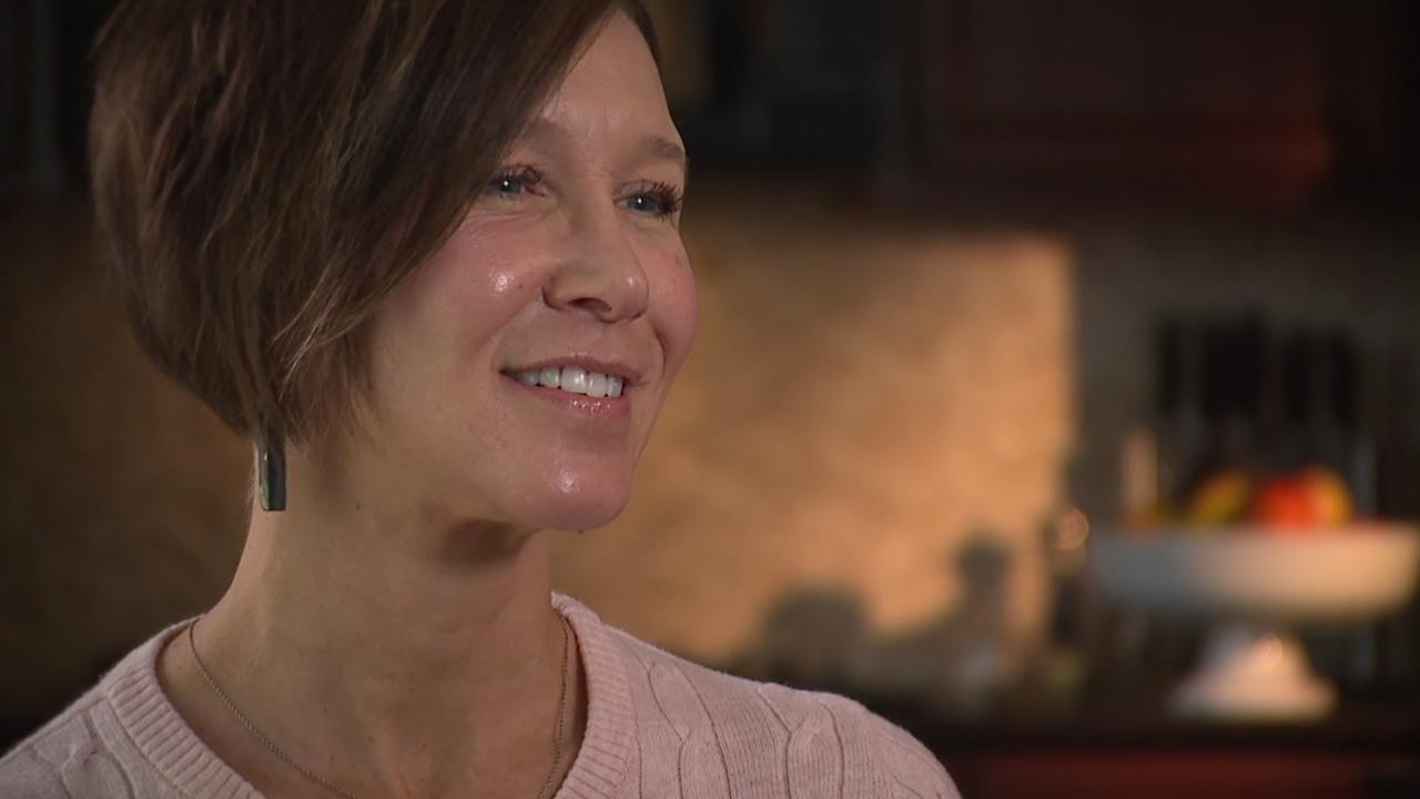 Angela Mossbruger, mother of two