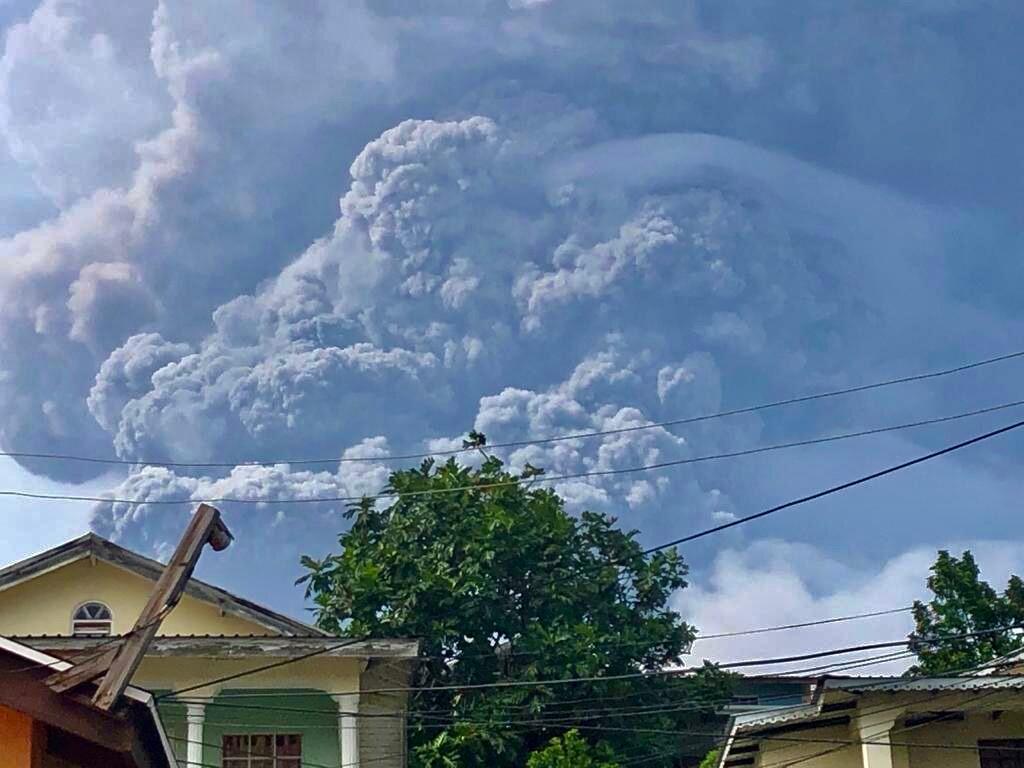 La Soufriere erupts