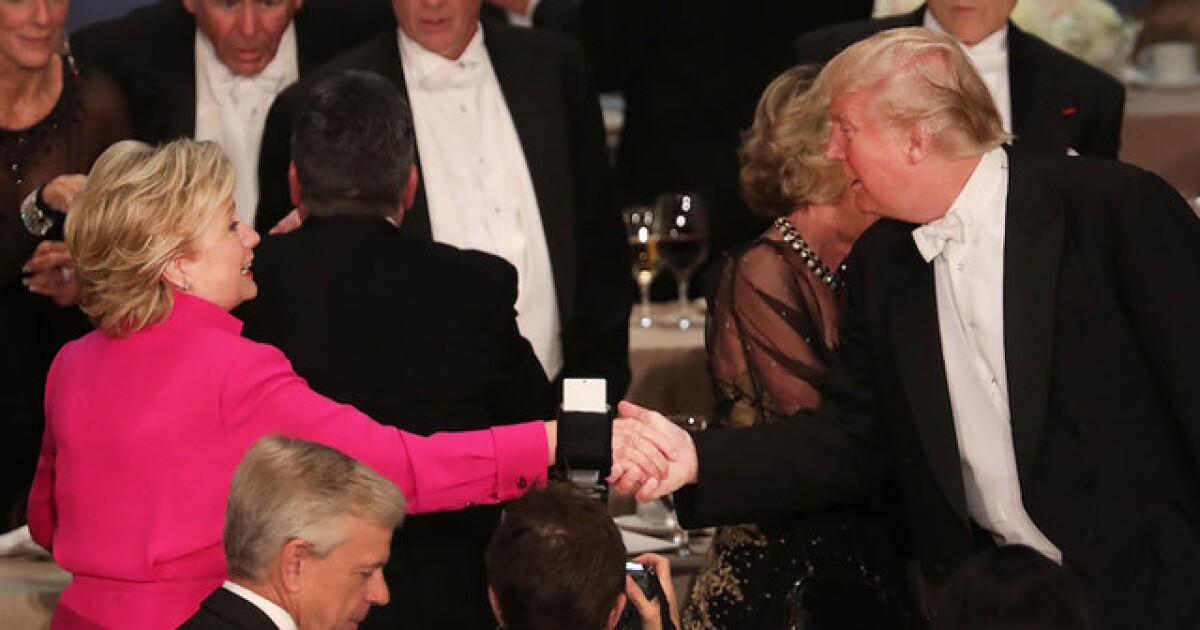 10 Jokes From Donald Trump Hillary Clinton At The Al Smith Dinner