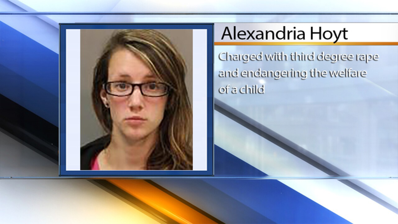 Woman accused of raping teen pleads guilty